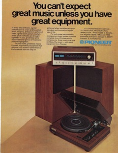 Pioneer Stereo Ad 1974
